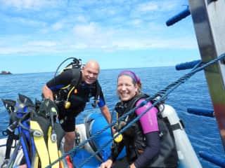 We're avid divers!