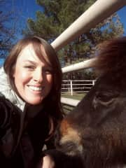 Me and a sweet, friend's pony