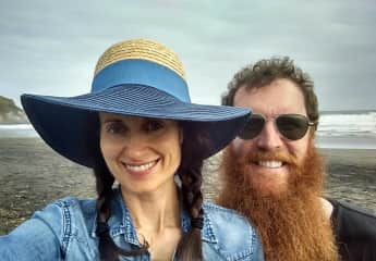 Dustin and I in New Zealand- we love to travel! The scenery was breathtaking, yet our best memory was meeting a random fella named Lech who invited us to spend the afternoon at his place, breaking bread, listening to music and learning about