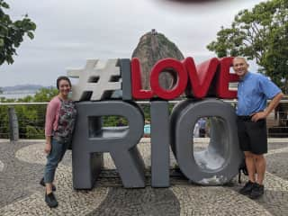 Rick and I in Rio.