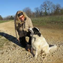 Heidi with the dog Darius