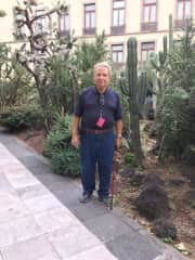 Bill in the National Palace Garden in Mexico City