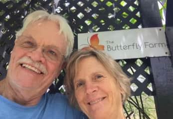 Exploring a butterfly farm in St Maarten