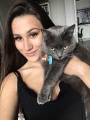 Mila - the cat I petsitted in Divonne les Bains