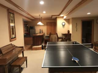 Downstairs recreation area