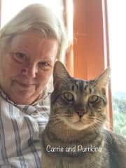 Carrie and Purrkins in Paso Robles, CA