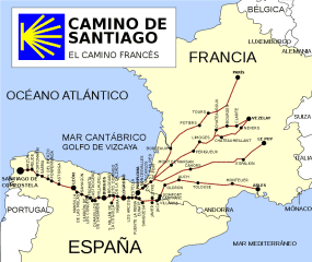 In April, I will walk The Portuguese Way of St James, one of the many Medieval pilgrim routes to Santiago de Compostela in Northern Spain.