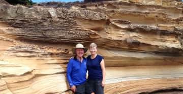 Raine & Allan on our recent trip to Tasmania