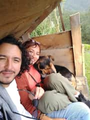 Whenever we hike, there is a dog behind us. Most likely we attract them. :)
