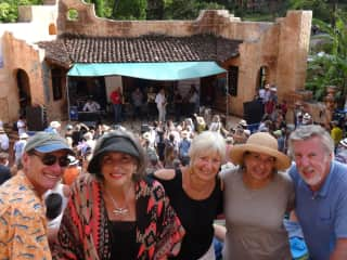 Enjoying the Boquete Jazz & Blues Festival with friends