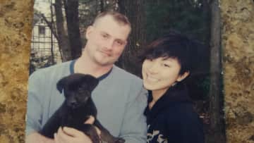 Me and my brother and his pup Jade.