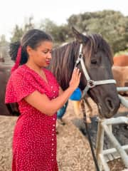 Horseback riding in Santa Barbara, CA with Jude.