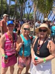 My Lavaman Triathlon relay team in Hawaii!