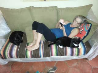 Carole with Dionysis and Apollo in San Miguel, Mex. 2016