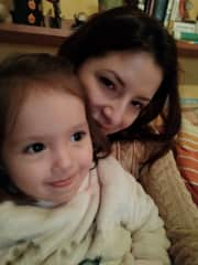 My niece and me  because she is the most important in my live