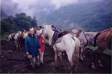 Long horse journey in Costa Rica.
