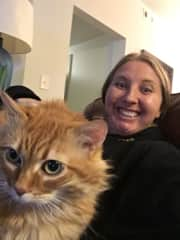 Jen with Fluffers in Franklin, Tennessee.