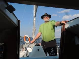 Ron likes to sail