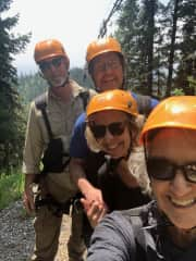 Zip Line with friends on Big Mountain, so fun!