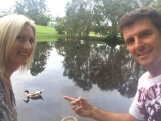 Ou pet duck Fred, Maree & Greg