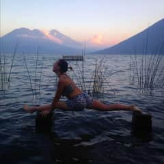 I'm an avid yogi! This photo was taken in Guatemala, in the backyard of the family I was staying with as nanny via workaway