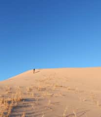 Photo from a trip climbing sand dunes in the mojave.