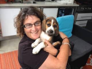 Kai with Niki in Western Australia