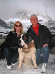Enjoying a little time with Josie in Switzerland several years ago.