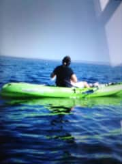 Kayaking on Cape Cod, one of my favourite things to do.