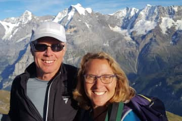 Barbara and Jim in the Alps