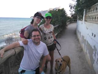 A day in Calpe with my friends and his dog