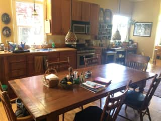 I love the big kitchen table my husband built