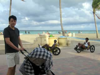Terry and little Emilio. Miami Beach, Florida