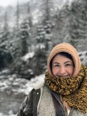 Liz in Glacier National Park