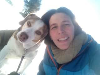Our dog Benji and myself