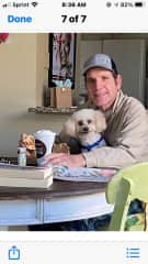 Ken and Joya, our first dog sitting client in Venice Beach FL, March 2021,