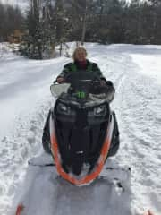 Snowmobiling the white mountains in NH