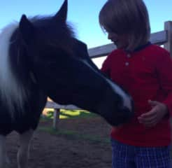 Gabe with horse