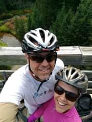 Long distance bike trip on the Mickelson Trail in South Dakota
