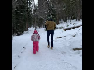 The kids first time out in the snow in Estes Park
