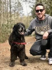 Hiking with Sebastian in North Carolina