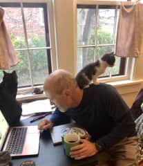 When Bibi was small she loved being a shoulder rider. Dining room