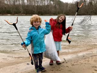 Guardians of the waterways -we collected 40 pounds of trash this day