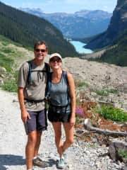 Jim and Heather hiking in the Canadian Rockies