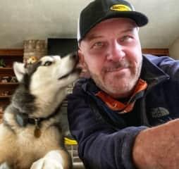 Kodiak giving me a kiss