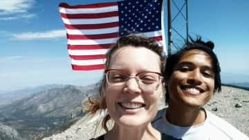 Dayl and Rand summit Mt. Charleston outside Las Vegas, Nevada
