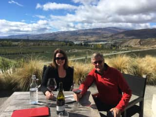 We also enjoy good food and interesting places to dine, like here at Mt Difficulty winery in the stunning South Island of New Zealand.