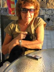 Me with our cat Sooty
