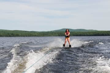 Water skiing (I'm not that good!)