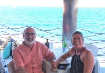 Me and Riccardo in Cefalu, Sicily